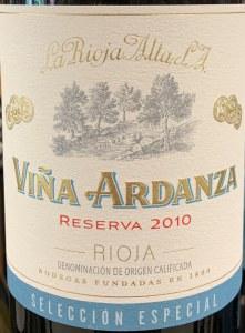 La Rioja Alta Vina Ardanza Reserva Seleccion Especial Rioja 2010 (750ML)