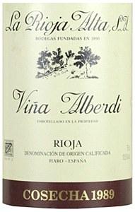La Rioja Alta 'Vina Alberdi' Reserva 1989 (750ml)