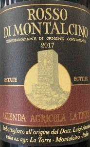 La Torre Rosso di Montalcino 2017 (750ml)
