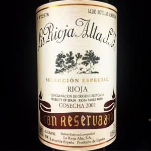 La Rioja Alta '890' Gran Reserva Rioja 2001 - 95pts WA (750ml)