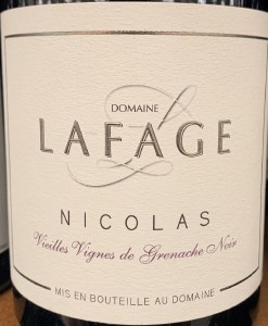 Domaine Lafage Cuvee Nicolas Languedoc Roussillon 2018 (750ml)