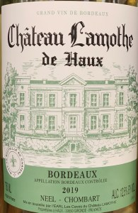 Chateau Lamothe de Haux Bordeaux Blanc 2020 (750ML)
