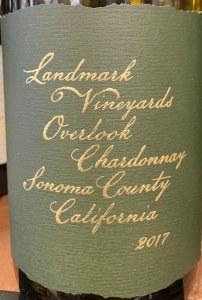 Landmark Vineyards 'Overlook' Chardonnay Sonoma Coast 2017 (750ml)