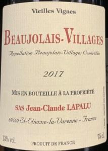 Lapalu Beaujolais Villages Vieilles Vignes 2019 (750ml)