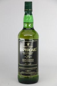 Laphroaig 25 Year Old Single Malt Scotch Whiskey, Islay (750ML)