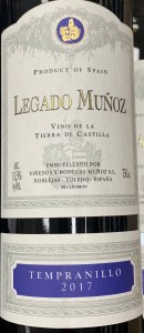 Legado Munoz Tempranillo 2017 (750ml)