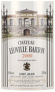 Leoville Barton St. Julien Bordeaux 2000 (750ML)