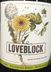 LoveBlock Sauvignon Blanc Marlborough 2018 (Organic) (750ml)