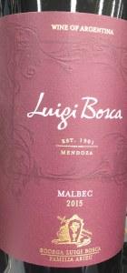Luigi Bosca Malbec Mendoza 2015 (750ML)
