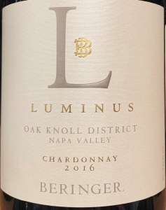 Beringer 'Luminus' Chardonnay Oak Knoll Napa Valley 2017 (750ML)