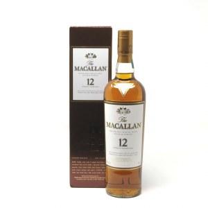 Macallan Sherry Oak Cask 12 Year Old Single Malt Scotch Whiskey, Speyside (750ML)
