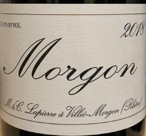 Domaine Marcel Lapierre Morgon Cru Beaujolais 2018 (750ml)