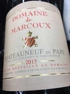 Domaine de Marcoux Chateauneuf du Pape Rouge 2015 Vinous Media 92-94