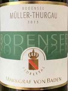 Markgraf von Baden 'Bodensee' Muller-Thurgau Baden 2013 (750ML)
