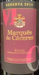 Marques de Caceres Rioja Reserva 2014-  (750ML)
