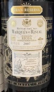 Marques de Riscal Gran Reserva Rioja 2007 - (750ml)