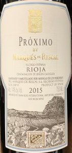 Marques de Riscal 'Proximo Rioja 2016(750ml)
