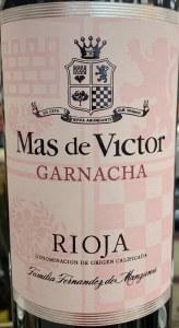 Mas de Victor Garnacha Rioja 2017 (750ml)