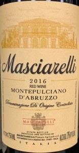 Masciarelli Montepulciano d'Abruzzo 2016(750ML)