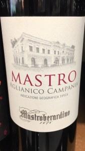 """Mastroberardino """"Mastro"""" Aglianico Campania 2017 (750ML)"""