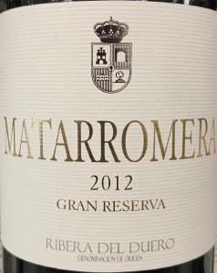 Matarromera Gran Reserva Ribera del Duero 2012 (750ml)