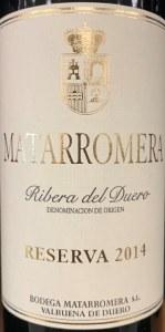 Matarromera Reserva Ribera del Duero 2014 (750ml)