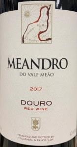Quinta do Vale Meandro Douro Tinto 2017 (750ml)