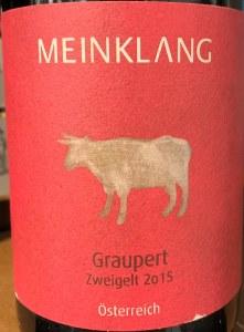 Meinklang Osterreich Zweigelt Graupert 2015 (750ML)