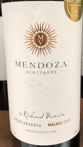 Richard Bonvin 'Mendoza Vineyards' Gran Reserva Malbec 2013 (750ML)