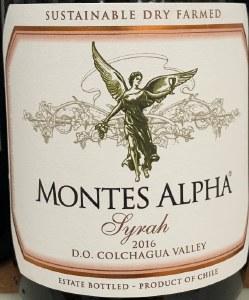 Montes Alpha Syrah Colchagua Valley 2017 (750ml)