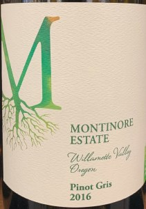 Montinore Pinot Gris Willamette Valley  2017 (750ml)