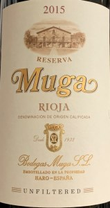 Muga Unfiltered Reserva Rioja 2015 (750ml)