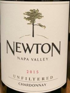 Newton 'Unfiltered' Chardonnay Napa Valley 2015(Sustainable) (750ml)