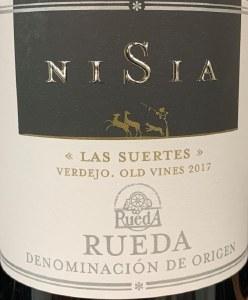 Nisia Las Suertes Old Vines Verdejo Rueda 2017 (750ML)