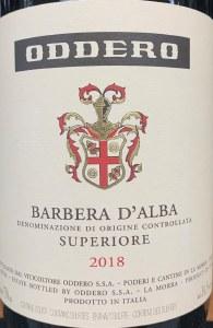 Oddero Barbera d'Alba Superiore 2018 (750ml)