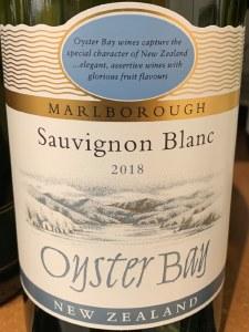 Oyster Bay Sauvignon Blanc Marlborough 2018 (750ml)