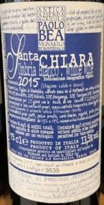 Paolo Bea 'Santa Chiara' Bianco 2017 (750ml)