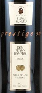 Pedro Romero Jerez-Xeres-Sherry VORS Palo Cortado NV (500ML)