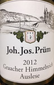 Joh. Jos. Prum Graacher Himmelreich Auslese Riesling 2012 (750ML)