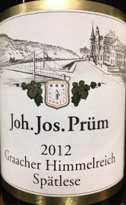 Joh. Jos. Prum Graacher Himmelreich Spatlese Riesling 2012 (750ML)