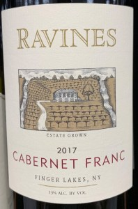 Ravines Wines Cellar Cabernet Franc Finger Lakes 2017 (750ML)