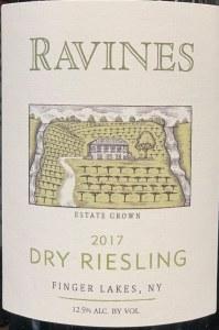 Ravines Wines Cellars Dry Riesling Finger Lakes 2017 (750ml)