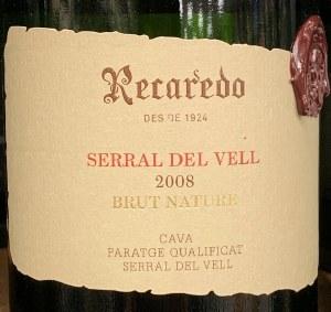 Recaredo Serral del Vell Brut Nature Gran Riserva Cava 2008 (750ml)