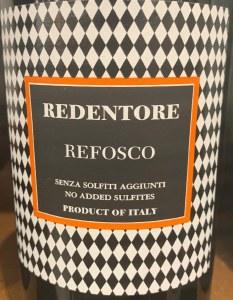 Redentore Refosco Dal Peduncolo Rosso 2017 (750ML) (Organic)