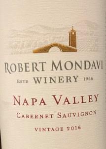 Robert Mondavi Napa Cabernet Sauvignon 2017 (750ML)
