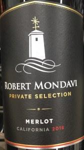 Robert Mondavi 'Merlot Private Selection'  California (750ml)