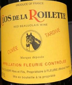 Clos de la Roilette Cuvee Tardive Fleurie 2018 (750ml)