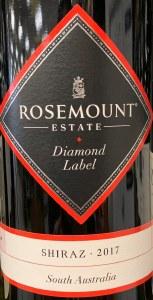 Rosemount Estate 'Diamond Label' Shiraz South Australia 2017 (750ML)