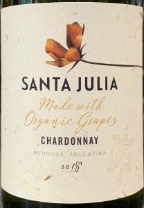 Zuccardi 'Santa Julia' Organic Chardonnay Mendoza 2020 (750ML)