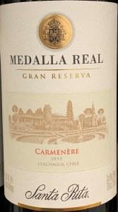 Santa Rita 'Medalla Real' Gran Reserve Carmenere Colchagua Valley 2015 (750ml)